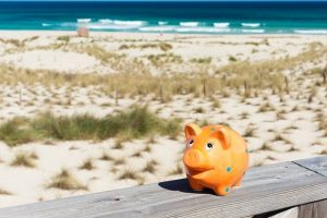 piggybank in holidays